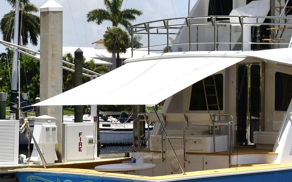 Yacht Exterior Cleaning and Detailing & Yacht Awning Cleaning |